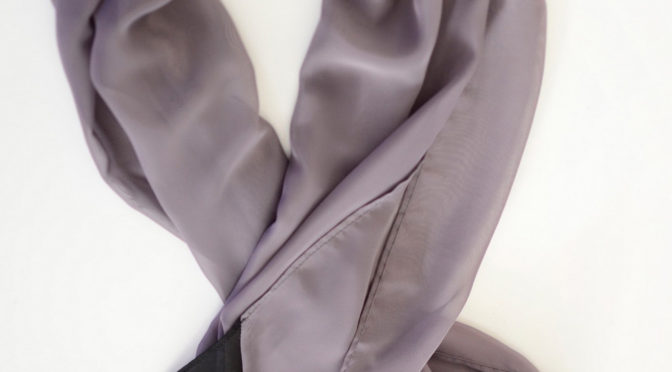 Gray and Black Scarf