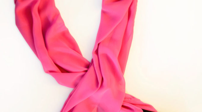 Pink and Black Scarf